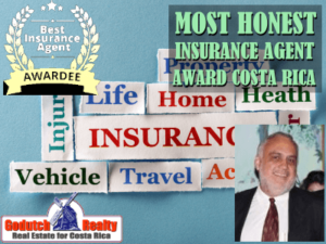 Costa Rica insurance agent wins most honest agent award