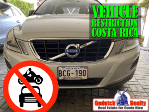 Costa Rica vehicle restriction or tag day