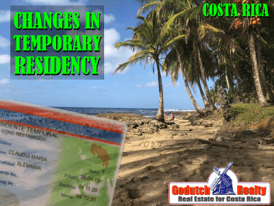 Change in Temporary Costa Rican residency