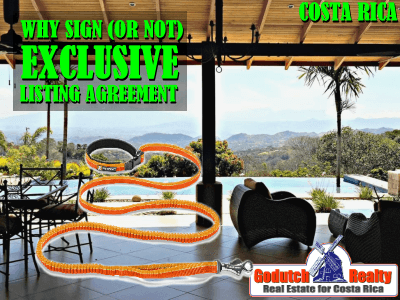 Should Atenas real estate sellers sign an exclusive listing agreement or not