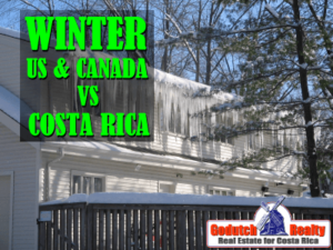 Winter in the US and Canada vs Winter in Costa Rica