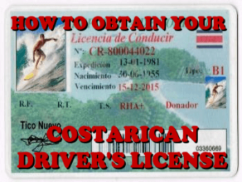 How to obtain your Costa Rica driver's license when having a residency ID