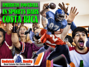 American Football in Costa Rican sports bar