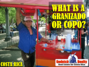 What is a granizado or copo in Costa Rica?