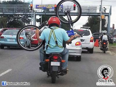 Motorbikes on the roads of Costa Rica