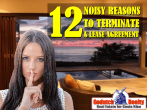12 Noisy reasons to terminate an Atenas lease agreement