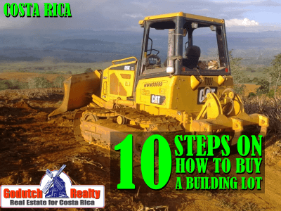 10 steps on how to buy a building lot