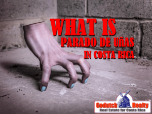 What is parado de uñas in Costa Rica