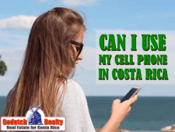 cell phone in Costa Rica while traveling