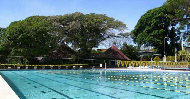 An olympic pool in the Cariari country club
