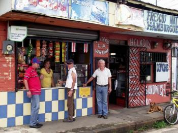 A typical pulpería or local grocery store in Costa Rica