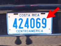 A Costa Rica vehicle tag