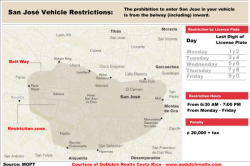 Click to see the San Jose vehicle restriction map