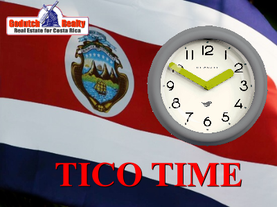 Costa Rica punctuality, also known as Tico Time