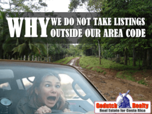 Why we do not take property listings outside our area code