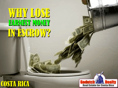 Why lose earnest money in escrow?