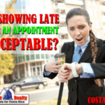 Is showing late for an appointment acceptable in Costa Rica?