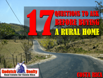 buying a rural home in Costa Rica