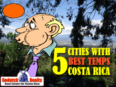 5 Cities in Costa Rica with the best temperatures