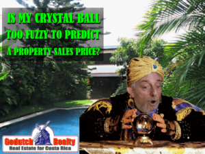 Is my crystal ball too fuzzy to predict a sales price?