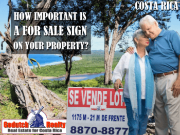 How important is a real estate for sale sign on a property?