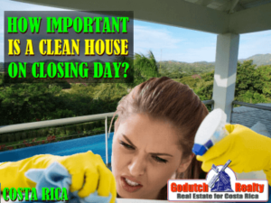 How important is a clean house on closing day?