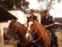 The mounted police in Costa Rica