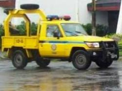 Costa Rica transit police towtruck