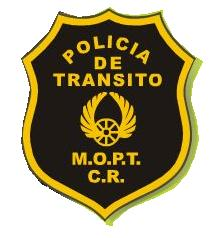 Costarica transit police badge