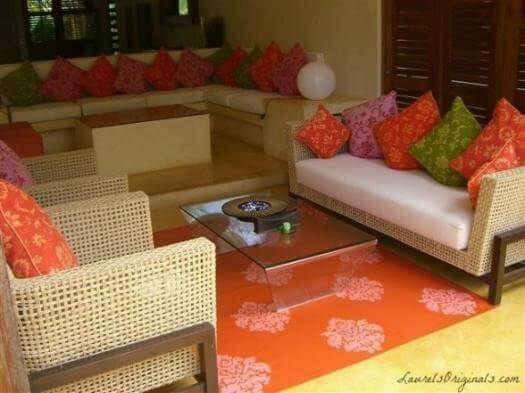 Awesome Costa Rican hand painted area rugs by Laurel