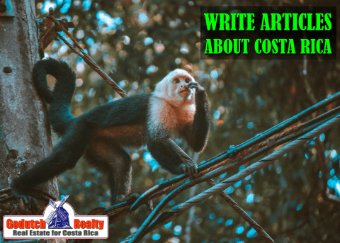Articles about Costa Rica - A Writing Gig during Corona Virus?