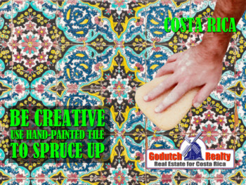 BE CREATIVE - USE HAND-PAINTED TILE TO SPRUCE UP