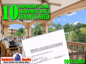 10 Important Lease Agreement Data