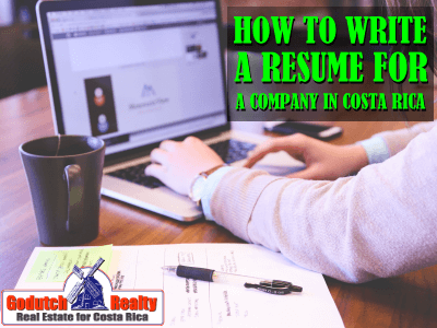 How to Write a Resume for the Company from Costa Rica