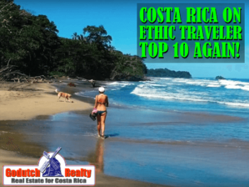 Costa Rica on Ethical Traveler Top 10 in 2021